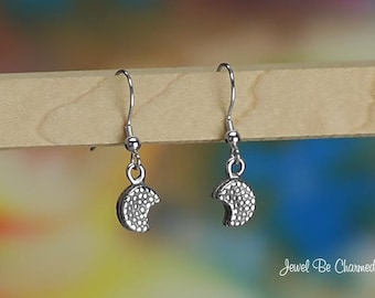 Sterling Silver Sandwich Cookie Earrings Fishhook Earwires Solid .925