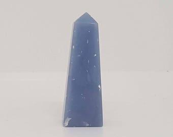 Angelite Crystal Obelisk - Blue Anyhdrite - Angelic Stone - Gemstone
