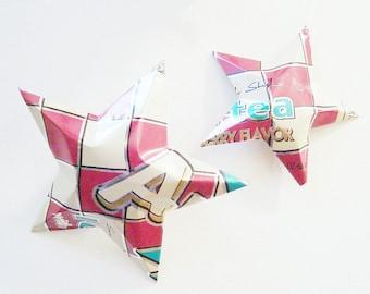 Arizona Cranberry Tea Stars Ornaments Soda Can Upcycled AZ