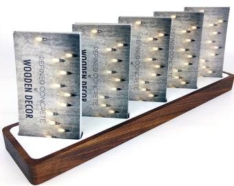 Multiple business card holder for desk multiple business multi business card holder for desk vertical business card holder wood modern office desk reheart Choice Image
