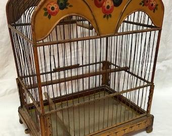 Wonderful European Tole Birdcage // Bird Owner / Animal Lover / Gift Idea / Decor Idea / Mother's Day / Birthday / Anniversary
