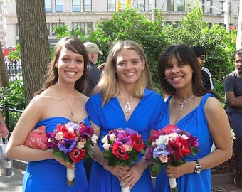 Royal Blue Infinity Convertible Dress... Bridesmaids, Special Occasion, Holidays, Prom, Beach, Honeymoon, Vacation