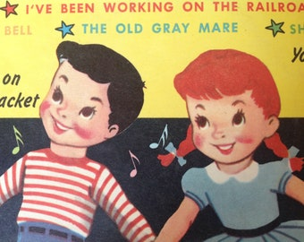 Vintage Children's Record from 1959 78 rpm Peter Pan Records: Sing Along with Al Goodman
