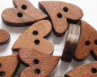 12pcs--Wood Button, 16x20mm (B27-5)