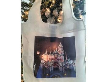 Christmas tote bag disney themed