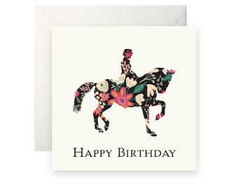 Dressage Horse Birthday Card
