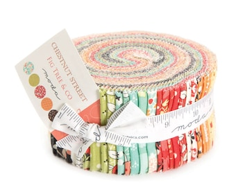 Chestnut Street Jelly Roll - Fig Tree and Company - Moda Fabrics - IN STOCK