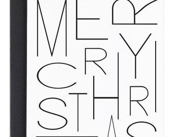 Modern Christmas card, Simple Holiday Card, Merry Christmas, Christmas Card, Simple Christmas card, xmas card, Modern Holiday Cards, Minimal