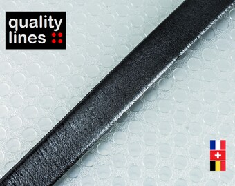 X 18 CM - 10mm black flat leather / 2mm (18cm is enough to make a bracelet up to size XL)
