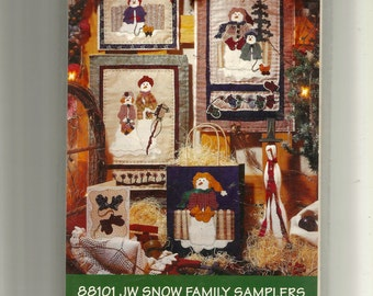 JW Snow Family Samplers Pattern 88101
