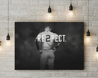 Baseball Themed Motivational Art, Respect, Inspire, Made to Order Raised Canvas Art Piece