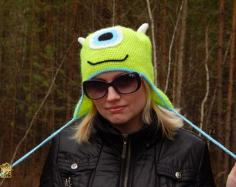 Animal hats . Crochet Hats. Monsters hats. Mike Wazowski hat . Made to order