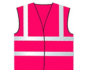 Baby and Child Hot Pink Vests Children Reflective Waistcoat Hi Visibility Child Sports Safety