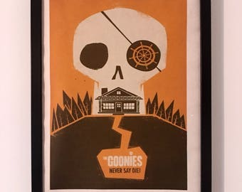 Goonies Parody Movie Poster A3 on Rice Paper Alternative Film Poster Design Wall Art