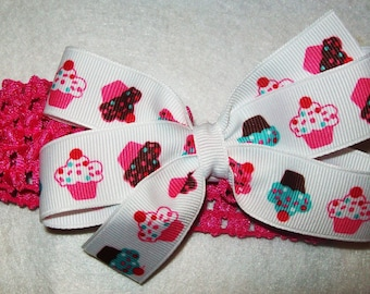 Cupcake Boutique Bow and Interchangeable Headband