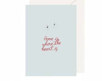 Home Is Where The Heart Is Card - Housewarming Card - New Home Card - Housewarming Gift - New House Card - Moving Card