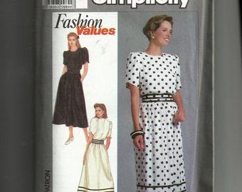Vintage Simplicity Misses' /Miss Petite Dress Pattern 9491