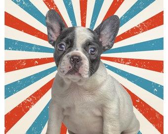 Dog Personalised Portrait _ Pet Portrait _ Choose your background