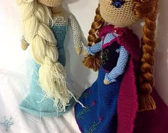 Elsa and Anna Frozen Crochet PATTERN