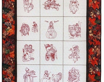 Thanksgiving Blessings Hand Embroidery Quilt Pattern 42