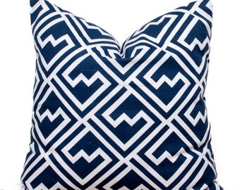 "SALE ENDS SOON Navy Throw Pillows, Navy Squares Pillow Cover, Navy Pillows, Blue Decorative Pillows, 18 x 18"""