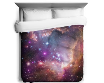 """Outer Space Duvet, Under the """"Wing"""" of the Small Magellanic Cloud Duvet Cover - Printed in USA"""