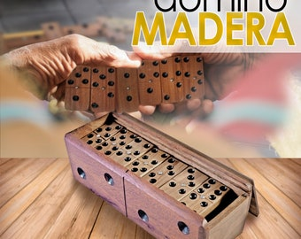 Domino in handmade wood 28 pieces