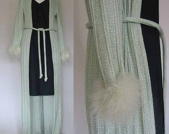 Saks Fifth Avenue Knitted Robe with Feathers