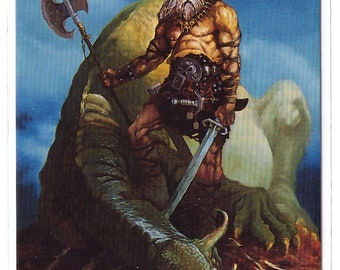 1994 Mike Ploog Collector Card Dragon Slayer