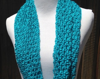 Turquoise Infinity Scarf; Turquoise Circle Scarf; Spring Infinity Scarf; Summer Infinity Scarf; Turquoise Scarf; Light Scarf; Light Infinity