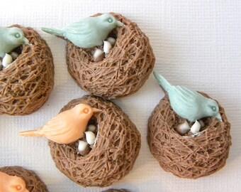 Resin bird nest cabochon