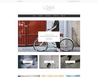 Lora - Wordpress Theme - Premade - Self Hosted - Wordpress Blog Theme - Responsive - Wordpress Blog Theme - Feminine Wordpress Theme - Blog