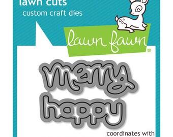 Lawn Fawn - Lawn Cuts - Dies - Happy Happy Happy Add-On