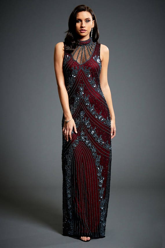 Vivian Vine Red 1920s Great Gatsby Inspired Downton Abbey