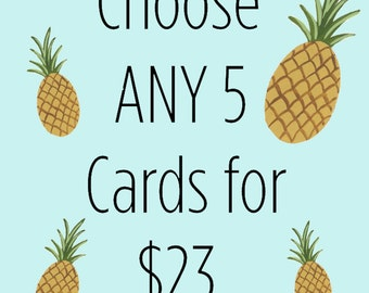 Get a discount when buying 5 greeting cards