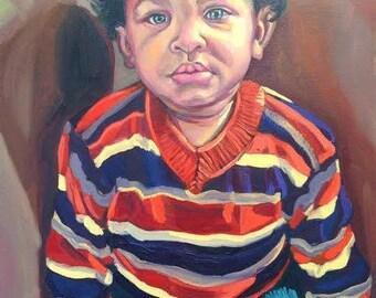 16x20 oil portrait - full figure