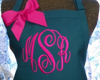 Apron Personalized with Name or Initials Monogrammed Gift
