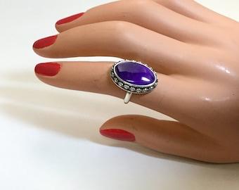 Deep Purple Sugilite Ring