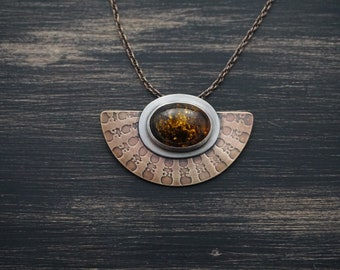 Amber Shield Necklace