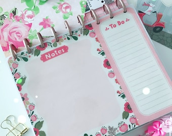 Double Sided Laminated Note List / To Do  Dashboard : For CLASSIC HAPPY PLANNER Accessories Re-Usable Page Marker Bookmark Insert