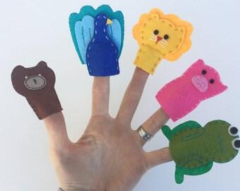 Handmade Finger puppets - set of 10