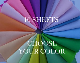 "SALE!!! 100 Percent Wool Felt Sheets - 10 Sheets of 8"" X 12"" Felt - You Pick Color - Merino Wool Felt - 100% Wool Felt"