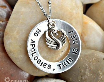 No Apologies, This Is Me The Greatest Showman Inspired Necklace - Affirmation Gift - Empowerment Gift - Actor Gift - Theater Gift - Unisex