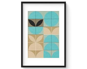 BLUEBIRD no.1 - Giclee Print - Mid Century Contemporary Modern Abstract Modernist Art