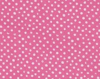 Polka dot quilt fabric mini pink confetti