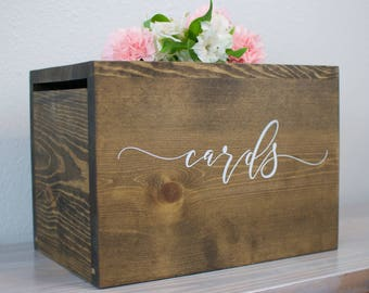 Wedding Card Box with lock, Wedding Card Box, Wedding Money Box, rustic wedding, rustic card box, wedding cards, card holder, boho wedding