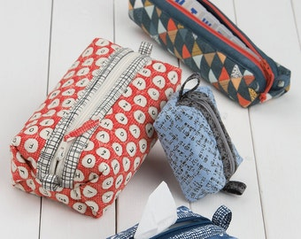 Stowaways from Atkinson Designs - Pattern for Zippered Storage Bags for Travel and Organization