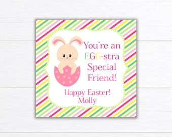 Printable EASTER Tag, Easter Stickers, Easter chick Tag, Easter Party Favors, Easter Candy Tag, Easter Bag Topper, Easter Card, Personalized