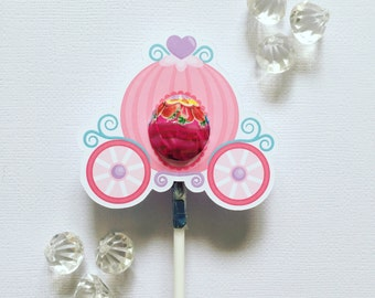 Princess carriage MINI lollipop holders