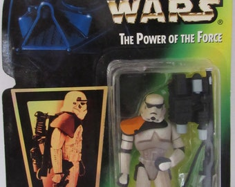1996 Kenner Star Wars Power Of The Force Sandtrooper Action Figure New In Package